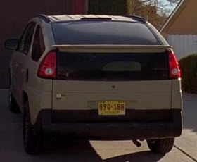 Walter White's Aztek. Photo by ScreenBids.com.