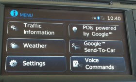 Nissan Sentra Send to Google feature