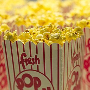 Movie popcorn: Image: Movie theater popcorn &#169; Lanny Ziering, Brand X Pictures, Getty Images 