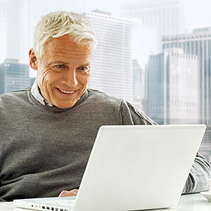 Image: Senior with Laptop &#169; H-Gall, Vetta, Getty Images