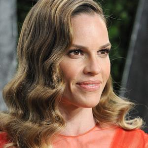 Actress Hilary Swank attends the 2013 Vanity Fair Oscar party