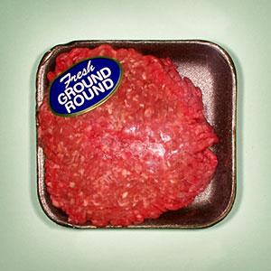 Logo: Packaged ground beef (Frank Bean/Uppercut RF/Getty Images)