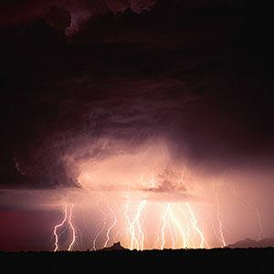 Logo: Lightning (Warren Faidley/Corbis)