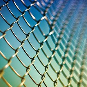 Wire fence with blue sky © David Sambells, Flickr, Getty Images