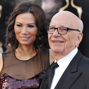 Rupert Murdoch, right, and wife Wendi Deng Murdoch