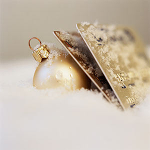 Ornament and credit cards © Tom Grill, Corbis
