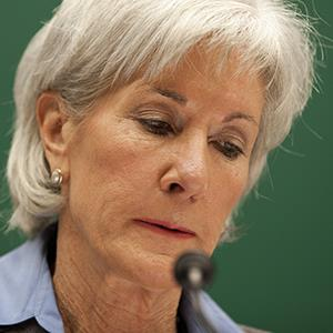 Health and Human Services Secretary Kathleen Sebelius testifies before the House Energy and Commerce Committee on Capitol Hill on Oct. 30, 2013 (© Evan Vucci/AP Photo)