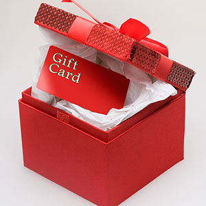 Gift card © Thinkstock Images, Jupiterimages