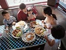 Image: Family at diner (&#194;&#169; IT Stock Free/SuperStock)
