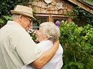 Image: Senior Couple in a Garden (© Corbis)