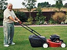 Image: Senior man with lawn mower &#194;&#169; Jacobs Stock Photography/Photodisc/Getty Images