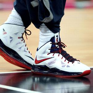 Image: LeBron James' shoes in the men's basketball gold medal game between the US and Spain on Day 16 of the London 2012 Olympic Games (© Christian Petersen/Getty Images)