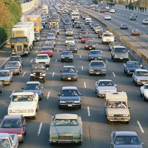 Los Angeles, Calif., traffic on Interstate 405, copyright VisionsofAmerica, Joe Sohm, Digital Vision, Getty Images
