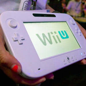 Credit: Jonathan Alcorn/Bloomberg via Getty Images&#xA;Caption: The new WiiU video-game handheld console