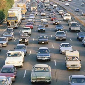 Los Angeles, Calif., traffic on Interstate 405 copyright VisionsofAmerica, Joe Sohm, Digital Vision, Getty Images