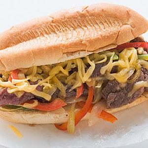 Image, Philly Cheese Steak, copyright FoodCollection, SuperStock, SuperStock