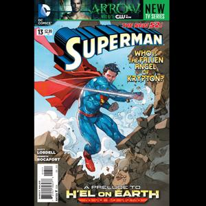 The cover of Superman no. 13, Courtesy DC Comics