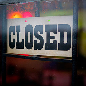 Closed sign -- Pete Barr-Watson, Flickr Open, Getty Images