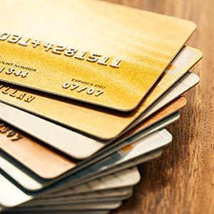Stack of Credit Cards copyright Fuse, Getty Images
