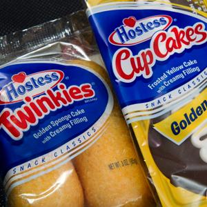 File photo of a twin pack of Hostess Twinkies and CupCakes, PAUL J. RICHARDS, AFP, Getty Images