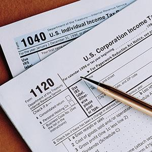 Tax form copyright Corbis