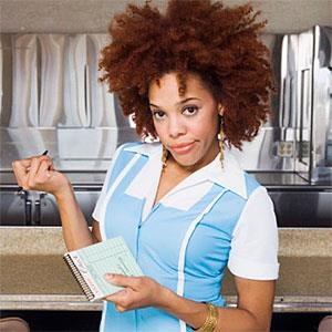 Impatient waitress waiting to take order copyright Brand X Pictures, Brand X Pictures, Getty Images
