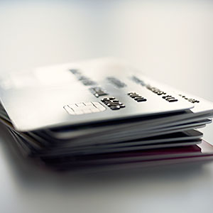 Pile of credit cards copyright Image Source, Getty Images