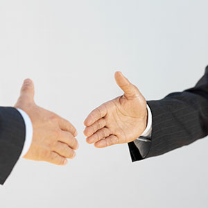 Image, Handshake copyright Corbis