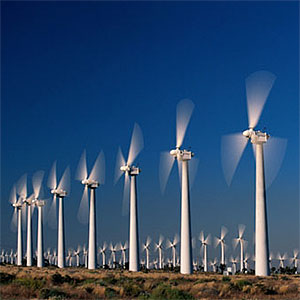 Image Wind turbines copyright Photodisc Red, Getty Images