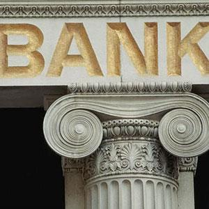 Bank sign John Foxx Stockbyte Getty Images