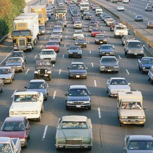 Los Angeles, Calif., traffic on Interstate 405 copyright VisionsofAmerica, Joe Sohm, Digital Vision, Getty Images