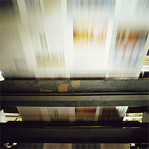Printing press copyright James Hardy, Getty Images