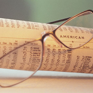 Stock market report copyright Corbis