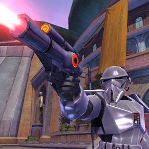 Handout image showing a scene from 2008 LucasArts video game