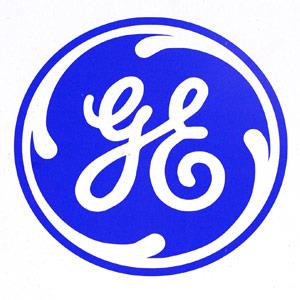 A General Electric Co. logo Fabrice Dimier, Bloomberg via Getty Images