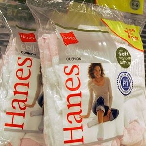 File photo of Hanes socks on display at a store in Charlotte, N.C. (© Chuck Burton/AP)
