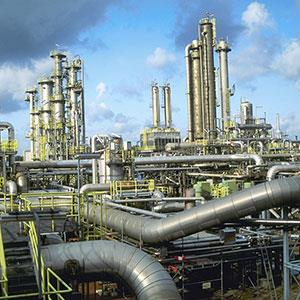 Natural gas plant © Kevin Burke Corbis