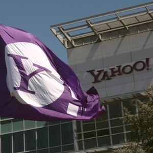 © Robert Galbraith/ReutersCaption: Yahoo logo is shown at the company's headquarters in Sunnyvale, California