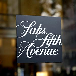 Saks Fifth Avenue sign (© Paul Brown/Rex Features)