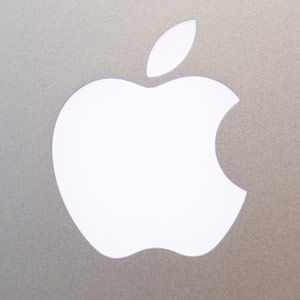 The Apple Inc. logo is displayed on the back of the new MacBook Pro David Paul Morris/Bloomberg via Getty Images