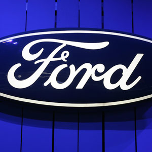 Ford emblem at the Chicago Auto Show JEFF HAYNES/AFP/Getty Images