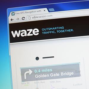 Waze.com website screenshot (© Web Pix/Alamy)