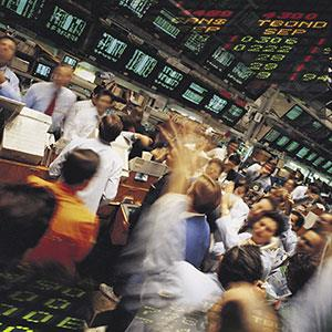 Trading floor (© Digital Vision Ltd./SuperStock)