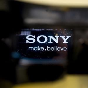 The Sony Corp. logo on a 3-D television (© Robert Gilhooly/Bloomberg via Getty Images)