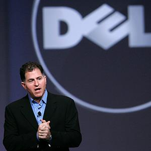 File photo of Dell Inc. CEO Michael Dell speaking in San Francisco, Calif. (© Robert Galbraith/Newscom/Reuters)