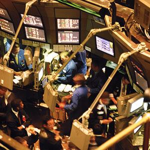 Trading floor (© Image Source/SuperStock)