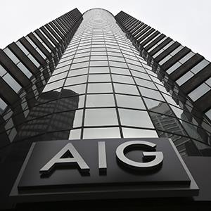 AIG logo from headquarter offices in Manhattan's financial district (© Bebeto Matthews/AP Photo)