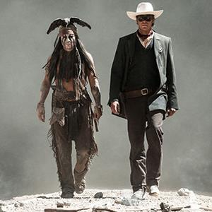 Johnny Depp and Armie Hammer in The Lone Ranger (© Moviestore/Rex Features)