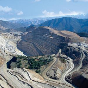 Aerial view of the Thompson Creek Mine in Idaho