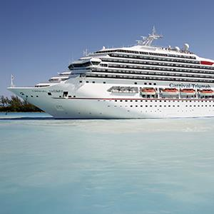 Carnival cruise ship in the Bahamas (© Paul Brown/Rex Features)